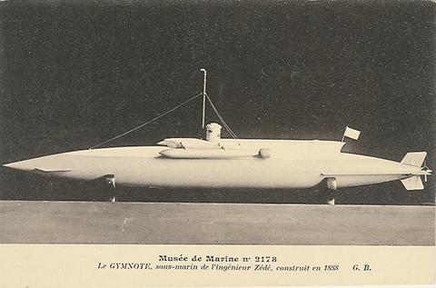 Sous-marin par Henri Dupuy de Lôme