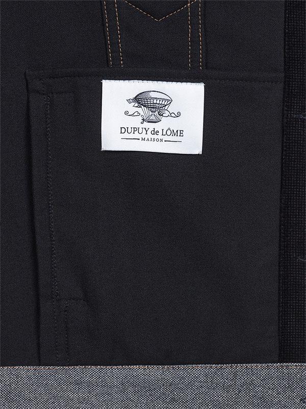 Veste en velours noir, empiècement, marque intérieur